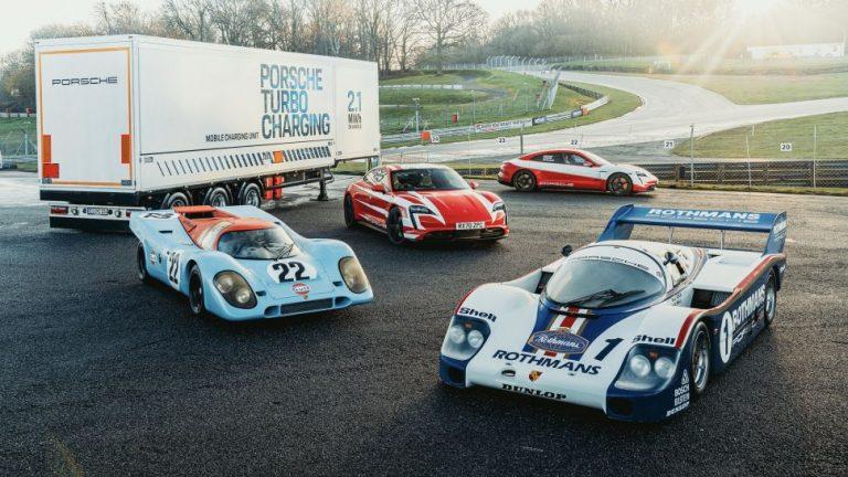 Porsche nimmt eine Reihe von Aufzeichnungen mit dem Taycan